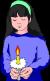 image girl praying