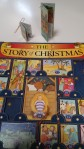 christmas story advent calendar open shows little book ornaments insdie